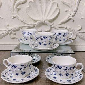 Churchill China 5 piece Tea Cup and Saucer